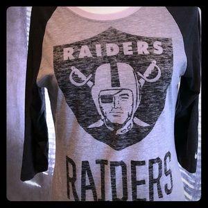 👩🏻 Raiders 3/4 Sleeve Raglan Shirt